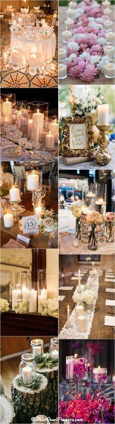 Fall wedding ideas - Romantic Rustic Candle Wedding Centerpiece Ideas / http://www.deerpearlflowers.com/wedding-ideas-using-candles/