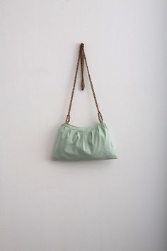 Pastel Green Purse Mint Bag  Faux / Vegan Suede Purse Modern Minimalist Bag Purse  Gift Idea For Her Fall Fashion