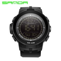 Aliexpress.com : Buy Brand Sanda Digital Sports Watches Men Watch Women Fashion Wristwatches 30Meter Waterproof Shock Resist Military Clock New G340 from Reliable clock mobile suppliers on Bin Professional Wristwatches Store