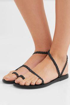 d1b8c645b72 Ancient Greek Sandals - Eleftheria Braided Leather Sandals - Black