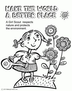 girl scout law coloring pages