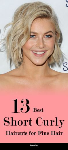 13 Mind-Blowing Short Curly Haircuts for Fine Hair Bob Haircut Curly, Short Curly Haircuts, Short Hair Cuts, Curly Short, Thin Curly Hair, Bobs For Thin Hair, Curly Hair Styles, Bob Hairstyles For Fine Hair, Hairstyles Haircuts