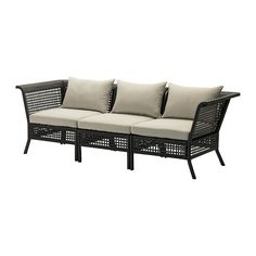 IKEA - KUNGSHOLMEN / HÅLLÖ, Sofa, outdoor, , By combining different seating sections you can create a sofa in a shape and size that perfectly suits your outdoor space.</t><t>You can make your sofa even more comfortable and add a personal touch by complementing with loose pillows in different sizes and colors.