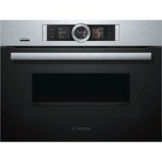 Bosch CMG676BS6B Home Connect,TFT colour and graphics display with direct touch function Compact Microwave Combination Oven, Electric