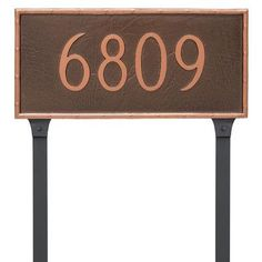 Montague Metal Products Standard Washington One Line Address Plaque Finish: Brick Red/Silver