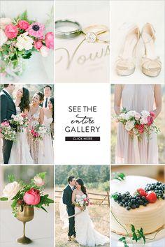 Natural Chic Pink and Gold Wedding @weddingchicks