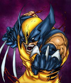 Wolverine Colored by likwidlead.deviantart.com on @DeviantArt