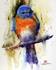 oiseau aquarelle Dean Crouser