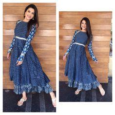 Gauhar Khan in Zoraya India Fashion, Fashion Wear, Fashion Outfits, Casual Outfits, Kurti Neck Designs, Blouse Designs, Indian Dresses, Indian Outfits, Trendy Kurti