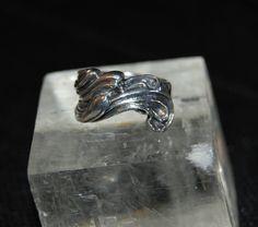 Repousse Sterling Ocean Surf Wave Vintage Ring #BKC-RNGNST17 by BadKittyCrafts on Etsy
