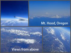 Views of Mt. Hood, Oregon from above