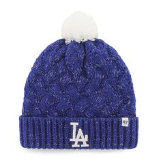 ca359ef4e67 Los Angeles Dodgers Women s 47 Brand Blue Fiona Cuff Knit Hat Dodgers  Outfit
