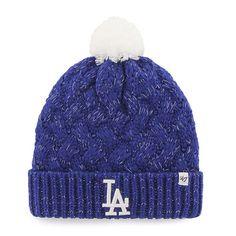 f92c7b82 Los Angeles Dodgers Women's 47 Brand Blue Fiona Cuff Knit Hat Detroit Game,  Metallic Yarn
