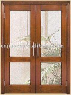 puertas de interior de madera con vidrio buscar con google