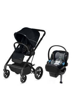 Ensure your baby has a smooth ride with the CYBEX Balios S/Aton M Travel System. Equipped with a reversible seat, one-hand fold and smart tech harness, this upscale stroller and car seat combo seamlessly blends superior protection and chic style. Car Seat Weight, Sun Canopy, Adjustable Legs, Travel System, Travel Set, Baby Sleep, Kids Wear, Baby Strollers, Car Seats