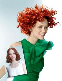 A red, created with Goldwell Colorance, as seen in MODERN SALON.