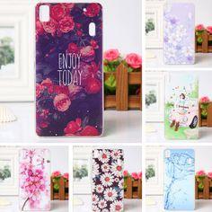 Luxus blume gemaltes case für lenovo k3 note case lenovo a7000 telefon case zurück abdeckung für lenovo k3 note silicon 3d relief case