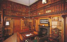 Sir Walter Scott's library in his home at Abbotsford, Scotland. Even though I am a big fan of natural light, home libraries seem better with no windows for some reason.