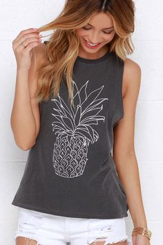 pineapple muscle-t for summer