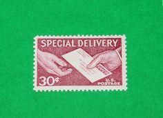 Reserved Custom Order for Jeedle .. Unused Vintage US Postage Stamps by TreasureFox on Etsy