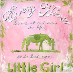 Oopsy Daisy A Girl and Her Horse Canvas Art