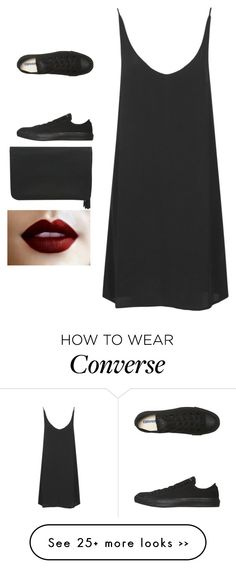 """Untitled #3539"" by adi-pollak on Polyvore featuring Converse, Topshop and Miss Selfridge"