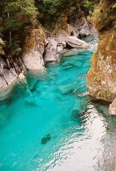 The Blue Pools of Haast Pass~ South Island, New Zealand