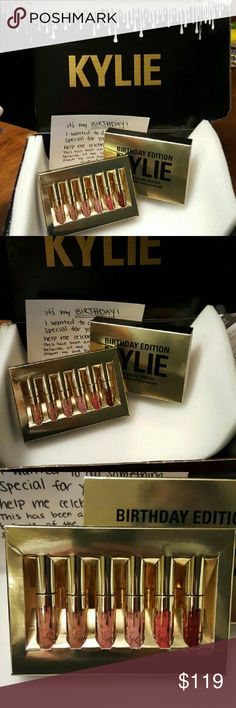 Kylie Jenners Birthday Edition Authentic (NEW) Brand New **AUTHENTIC** *Kylie Jenners Birthday limited edition Mini Matte's *Can sell each color separate for $25 *The whole set is as stated price *Sold out everywhere *Authenticity Guaranteed *Comes with what's pictured (Unless seperated)  *Price is Firm *Any price questions, rude remarks etc..will result in being ignored and blocked. *Everything you need to know is in description..SO READ FULLY *This listing comes with 6 mini mattes 1…
