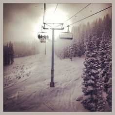 Winter Park, Colorado chairlift on Christmas Day Winter Park Colorado, Living In Colorado, Colorado Homes, Blue City, Mountain High, Winter Weddings, Heaven On Earth, My Happy Place, Rocky Mountains