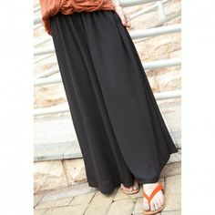 Casual Style Cotton Blend High Elasticity Solid Color Women's Skirt, BLACK, ONE SIZE in Skirts | DressLily.com