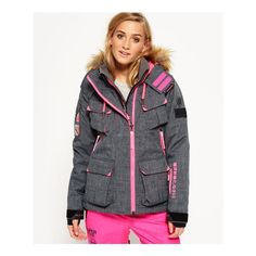 Superdry Ultimate Snow Service Jacket ($300) ❤ liked on Polyvore featuring grey and superdry