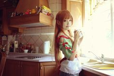 Cooking is so fun!! Asuna Cooking by angie0-0 on deviantART