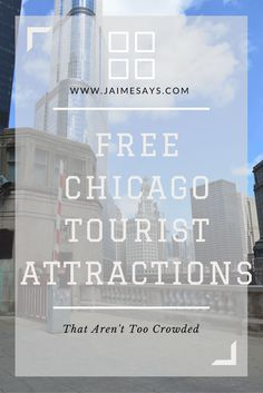 Looking for Free Chicago Tourist Attractions that Aren't Too Crowded? Look no further! Chicago, Illinois, USA