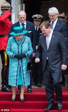 Job done: During the visit, the Queen saw the new Queen Elizabeth II Atrium and unveiled a...