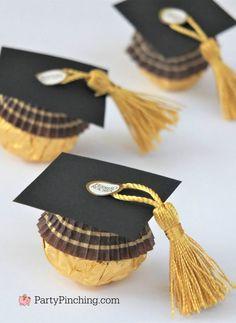 Graduation Food, Graduation Party Planning, High School Graduation Gifts, Graduation Party Decor, Grad Gifts, Grad Parties, Graduation Cookies, Graduation Presents For Him, Ferrero Rocher