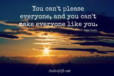 "10 Bits of Wisdom that are game changers!   ""You can't please everyone, and you can't make everyone like you."" Katie Couric True and that is OK!"