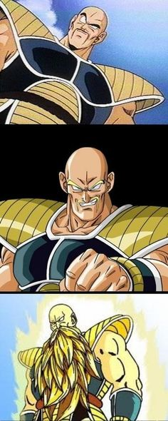 Super Saiyan Nappa. So that's what he would look like, I always imaged he would have gold armpit hair.