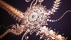 Bleach pen mehndi design on a t-shirt...  hmmmm, I see a project ahead of me!  :)