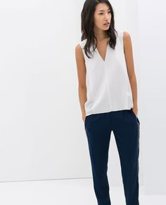 700,- Image 1 of V-NECK TOP from Zara