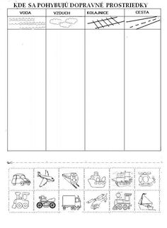 Science Worksheets, Science Activities For Kids, Rainy Day Activities, Tracing Worksheets, Montessori Activities, Worksheets For Kids, Preschool Activities, Transportation Theme, Preschool Writing
