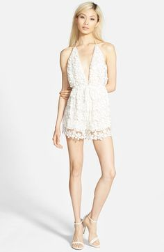 Missguided Lace Halter Romper
