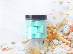 Jar from Symbolic Imports. Saved to Sugar Scrub Cubes. Sugar Scrub Cubes, Cool Items, Voss Bottle, Scrubs, Seaside, Pure Products, Beauty Products, Jar, Housewarming Gifts