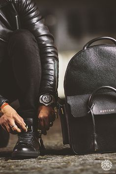 mens fashion; all black everything; mens accessories