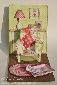 The Dining Room Drawers: Pop 'n Cuts 3-D Chair card