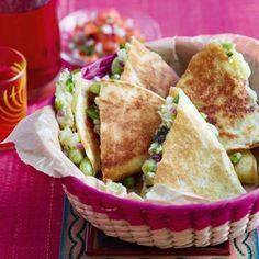 Broad bean and pea quesadillas - thomasina miers