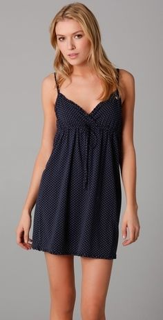 *LOVE - navy blue with tiny white polks-dots*** How To Feel Beautiful, How To Look Pretty, Look At You, Classic Looks, Nightwear, Night Gown, Juicy Couture, Dress To Impress, Cute Dresses