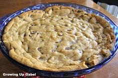 Chocolate Chip Peanut Butter Cookie Pie     This was very easy to throw together and also VERY rich....beware!!