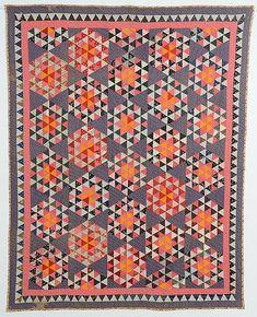 Hexagons Quilt: Circa 1890; Pennsylvania (item #1334222)