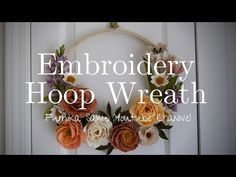 -embroidery hoo -organza fabric -scissors -glue gun -paint brush -felt flowers ( check my other videos to see how to make them! Felt Flowers, Diy Flowers, Fabric Flowers, Felt Diy, Felt Crafts, Diy Crafts, Embroidery Hoop Crafts, Flower Video, Fabric Scissors