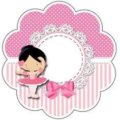 "Custom Theme Kit ""Ballerina Rose"" for Print - Simple Digital Invitations Ballerina Birthday Parties, Cinderella Birthday, Ballerina Party, Minnie Birthday, Baby Birthday, Box Templates Printable Free, Boarder Designs, Eid Cards, Diy And Crafts"